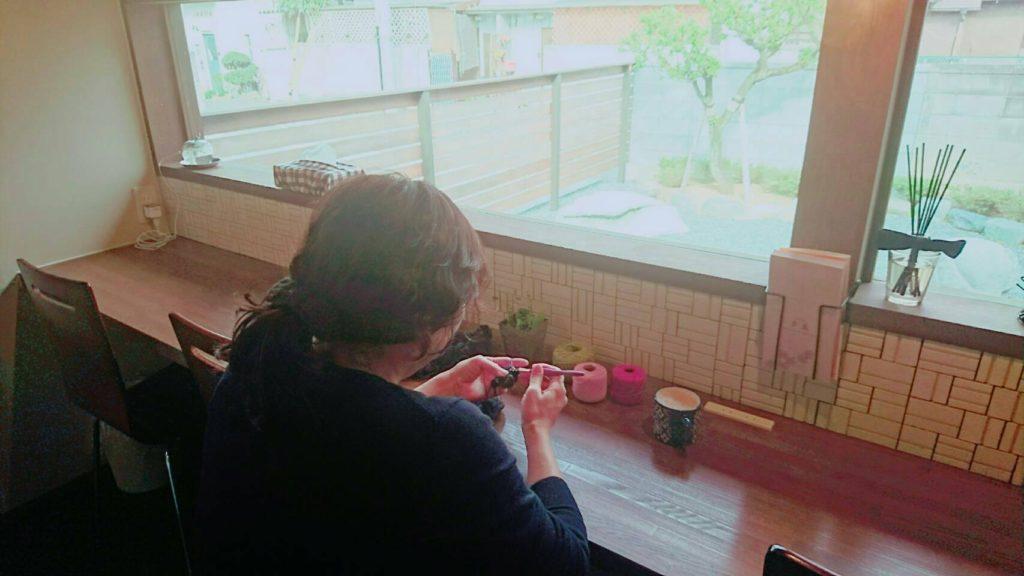 編み物教室 秩父 和空間多豆のワークショップ